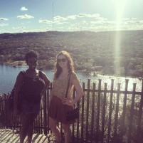 My friend Talisha and I on the top of Mount Bonnell