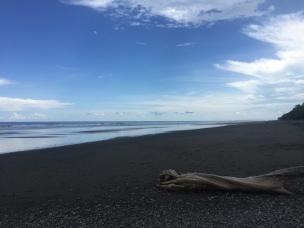 Black Sand Beach in Nicoya